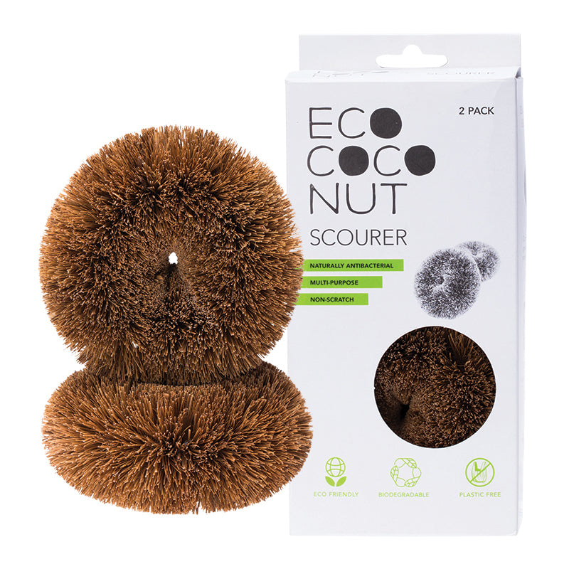 Eco Plastic-Free Cleaning Scourers (Set of 2)