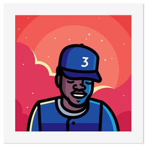 "Chance the Rapper Coloring Book 12"" x 12"" Print"