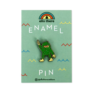 Cool Sasquatch Gold Enamel Pin