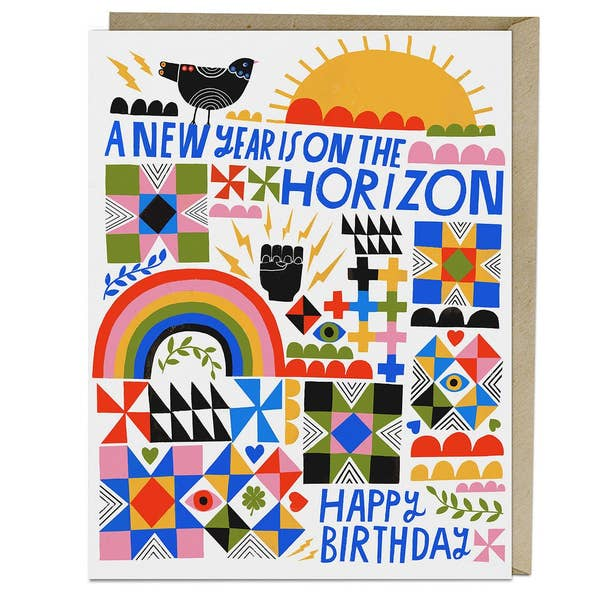New Year Horizon Birthday Card
