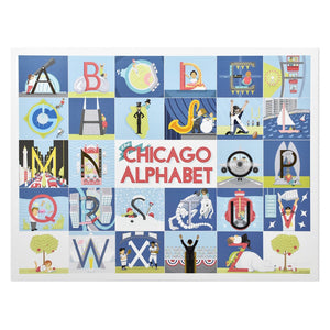 "Chicago Alphabet 13"" x 17.375"" Poster"