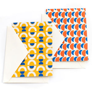 Geo Patterned Card Pack (8)
