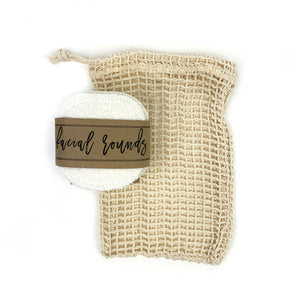 Organic Hemp Cotton Facial Cloths (Set of 10 with optional laundry bag)