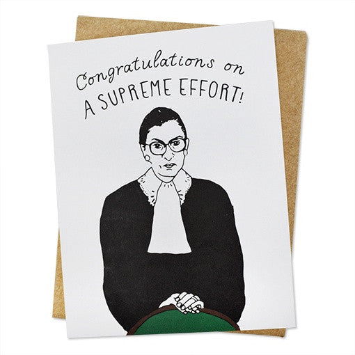 Ruth Bader Ginsberg Supreme Effort Card