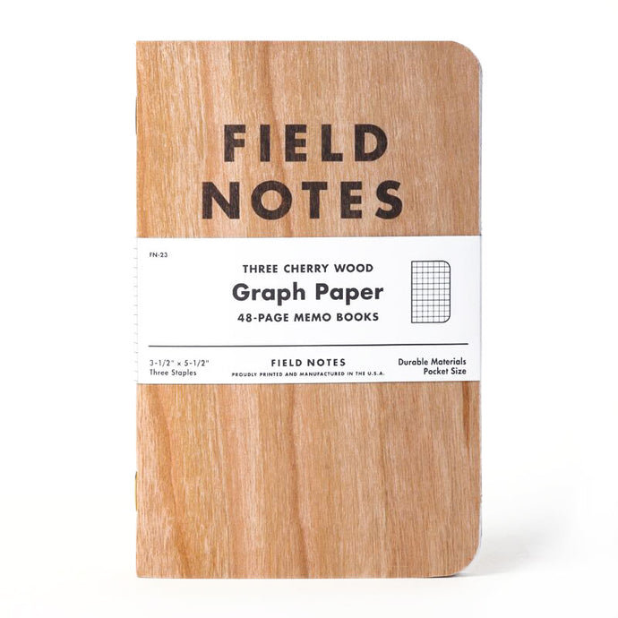 Field Notes Cherry Wood Edition Notebooks (Set of 3)