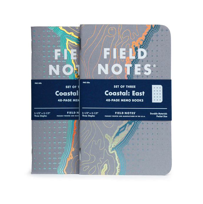 Coastal Edition Field Notes Notebooks (Set of 3)