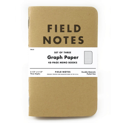 Field Notes Graph Paper Memo Notebooks (Set of 3)