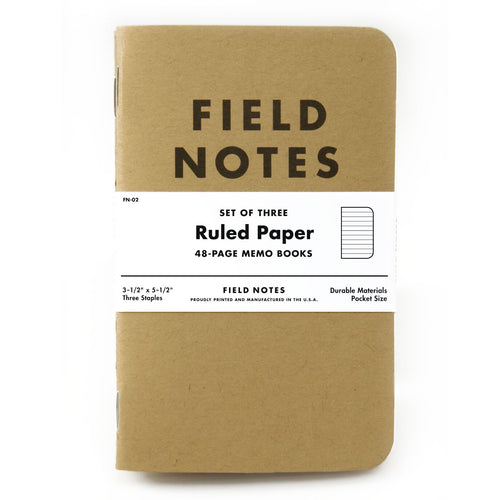 Field Notes Ruled Paper Memo Notebooks (Set of 3)