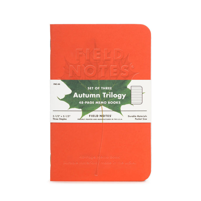 Field Notes Autumn Trilogy (Pack of 3)