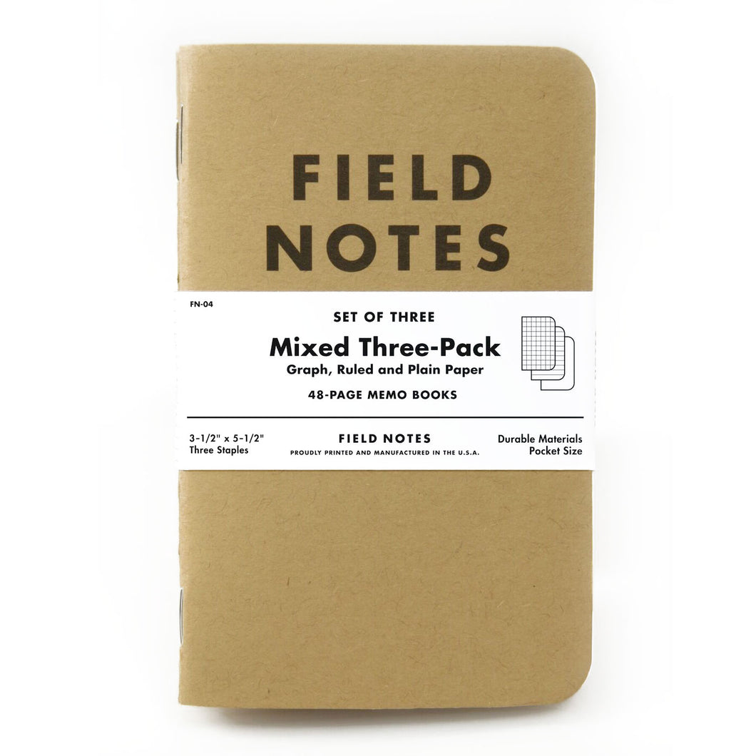 Field Notes Mixed 3 Pack of Notebooks