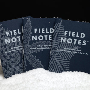 Field Notes Snowy Evening Notebooks (Pack of 3)