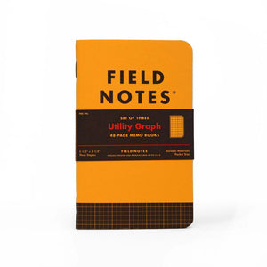 Field Notes Utility Graph Memo Notebooks (Set of 3)