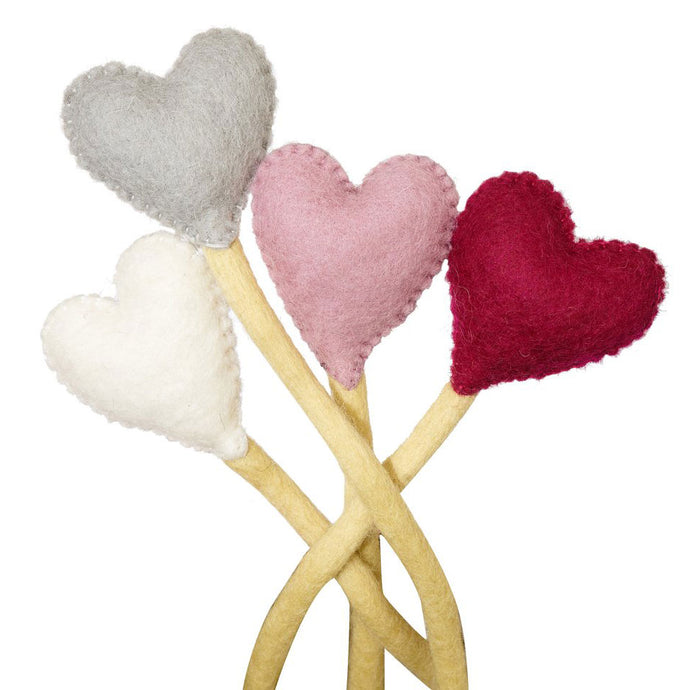 Fair Trade Felt Heart Stems