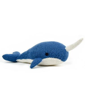 Fair Trade Knit Alpaca Stuffed Narwhal Toy