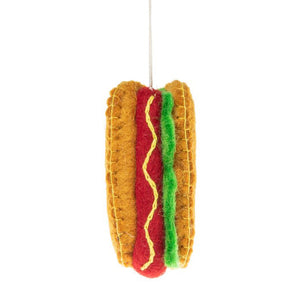 Fair Trade Chicago Hot Dog Holiday Ornament