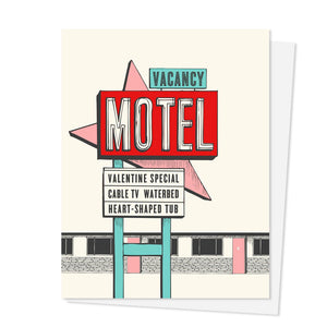 Valentine Motel Sign Card