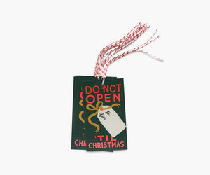 Do Not Open Gift Tags (Set of 10)