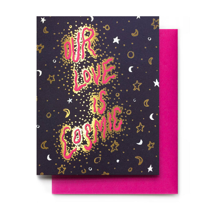 Love is Cosmic Valentine Card