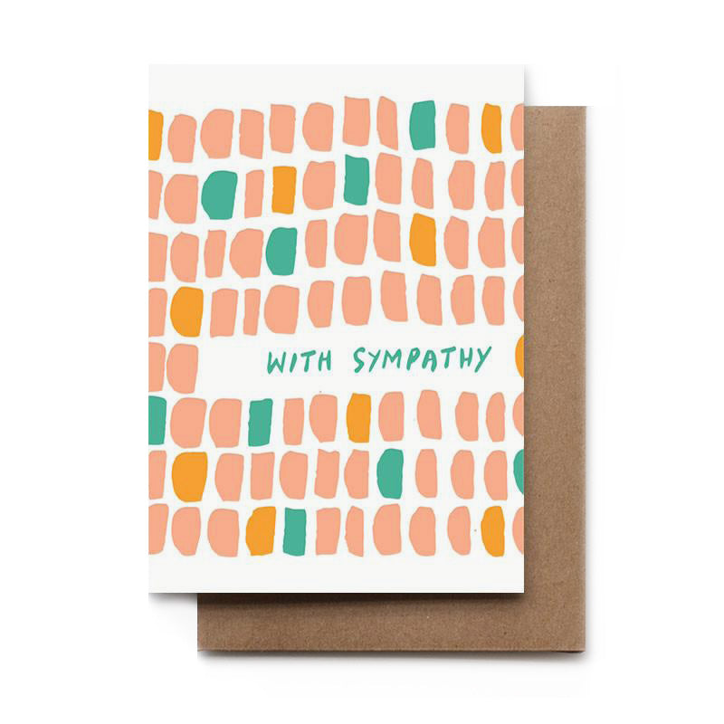 With Sympathy Cobblestone Card
