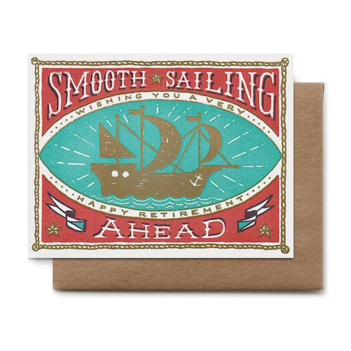 Smooth Sailing Retirement Card