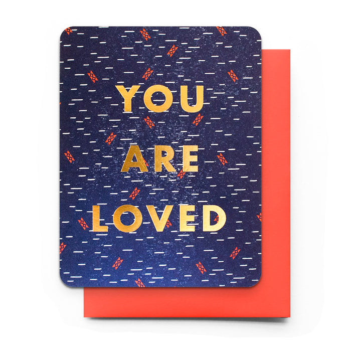 You Are Loved Letterpress Card