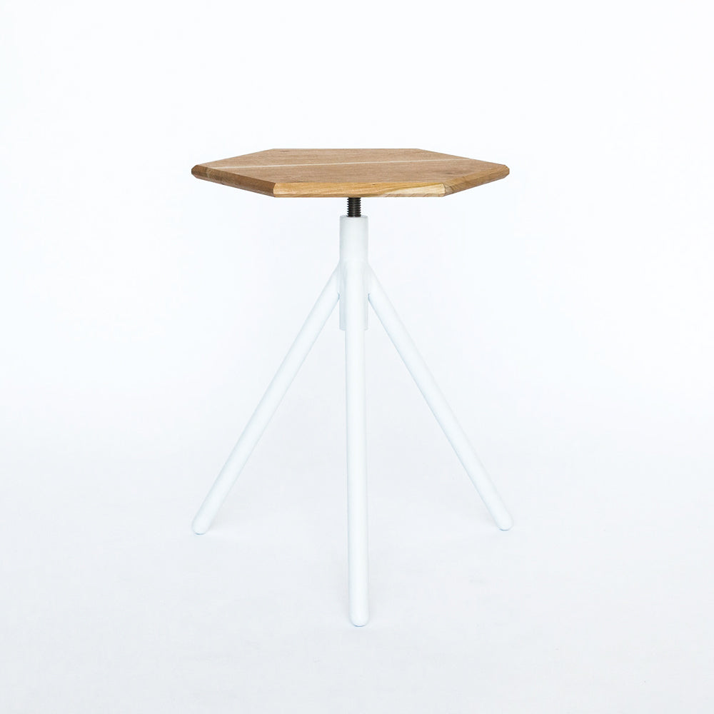 ... Adjustable Height Hexagon Side Table ...