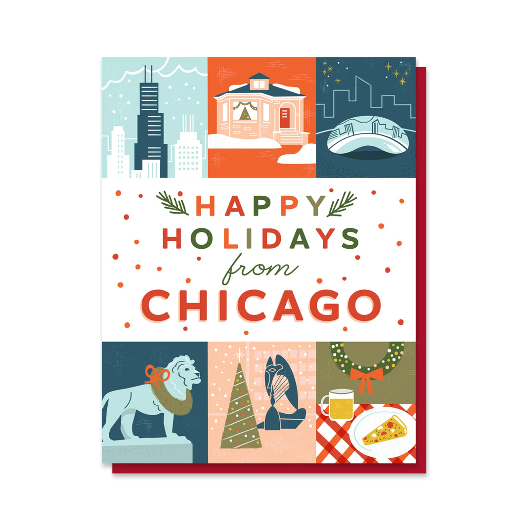 Happy Holidays from Chicago Grid Letterpress Holiday Card