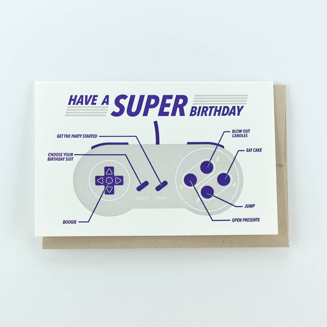 Have a Super Birthday Video Game Controller Happy Birthday Card