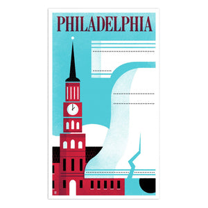 "Philadelphia Liberty Bell 14"" x 24"" Screen Print"