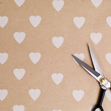 Valentine's or Wedding Heart Pattern Wrapping Paper (20 ft L x 20 in W)