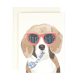 Beagle Happy Birthday Card