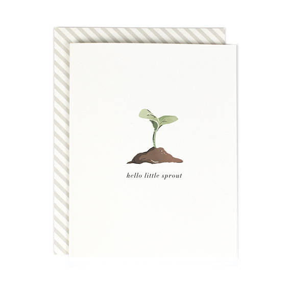 Hello Little Sprout New Baby Card