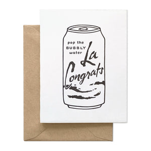 Bubbly Water La Congrats Congratulations Card