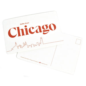 Hello from Chicago Postcard