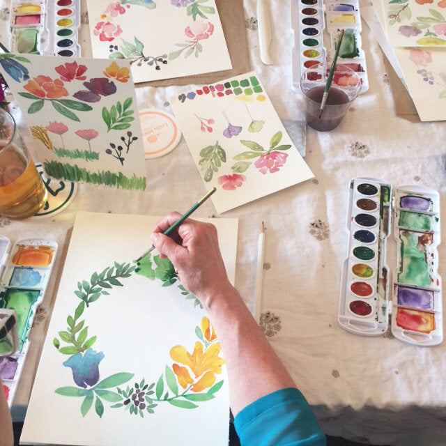 Thurs, February 6th - Watercolor Florals with J Villa Workshops