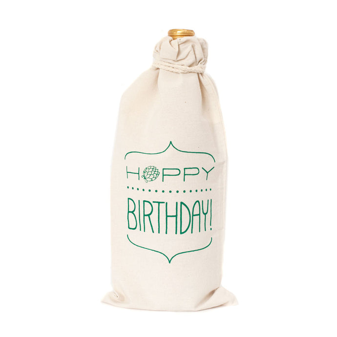 Hoppy Birthday Wine or Beer Bottle Gift Bag