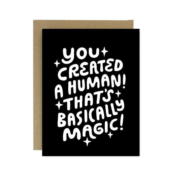 Human Magic New Baby Card