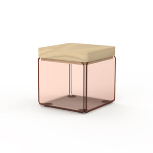 Acrylic Rose Gold Bath Container