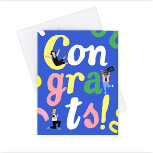 Congrats Friends Greeting Card