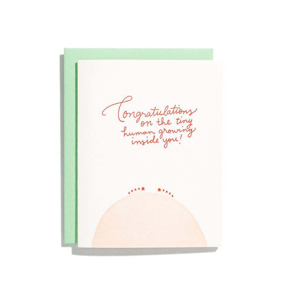 Congrats Tiny Human New Baby Card