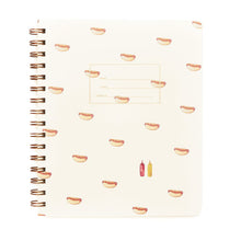 Hot Dog Ruled Spiral Notebook or Journal