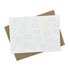 Clouds Sun Sky Letterpress Cards (Set of 8)