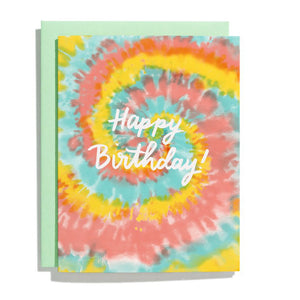Tie Dye Happy Birthday Card