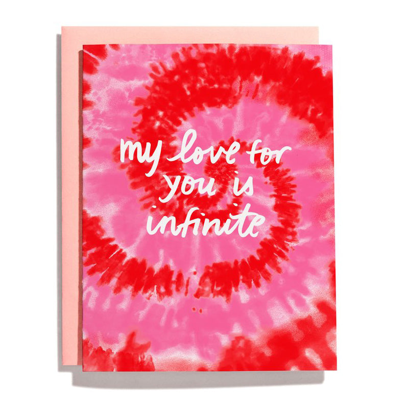 Tie Dye Infinite Love Valentine Card