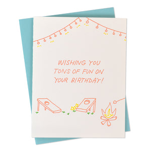 Tons of Fun Birthday Letterpress Card