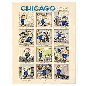 "Chicago: A Love Story 14"" x 18"" Print"