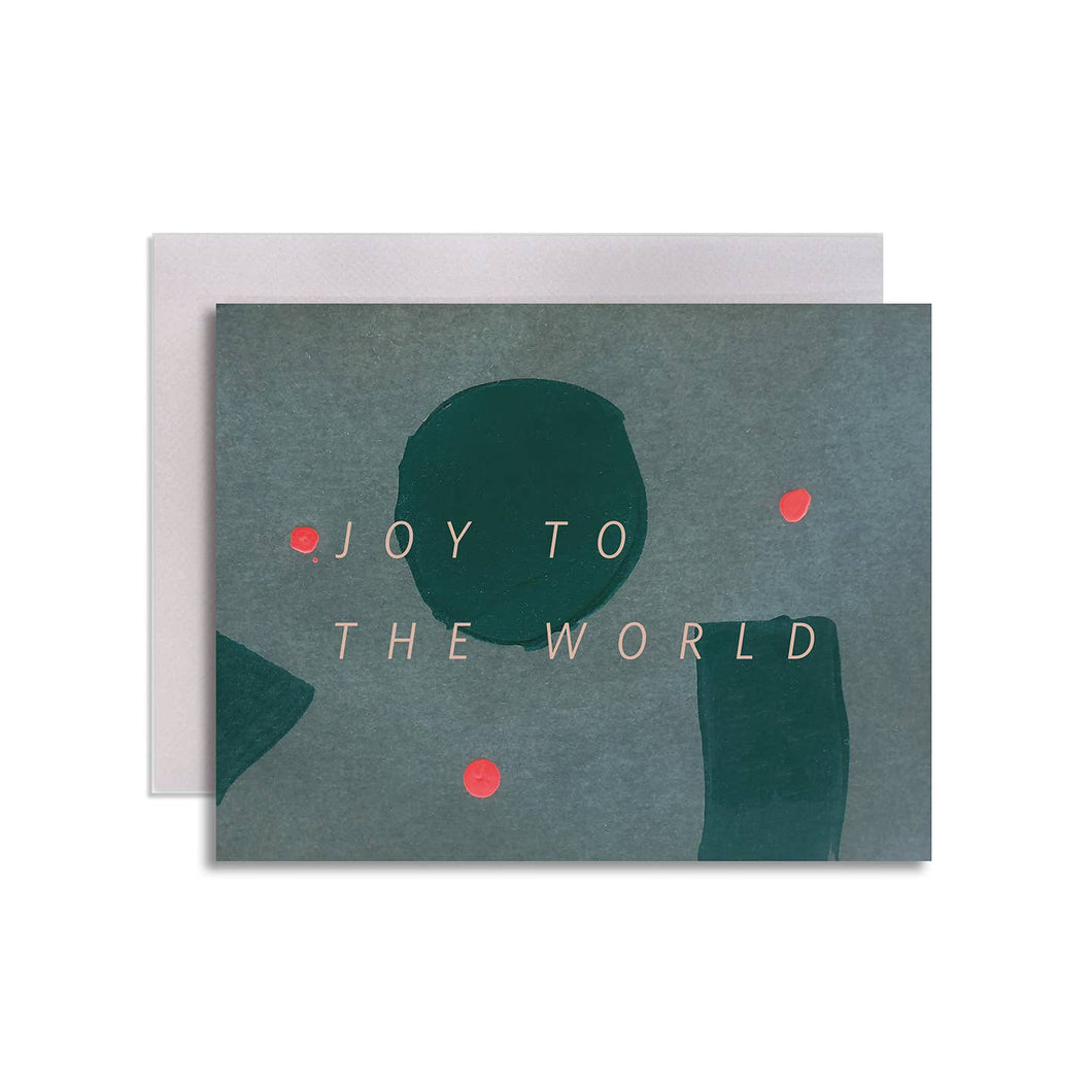 Joy to the World Modern Holiday Greeting Card