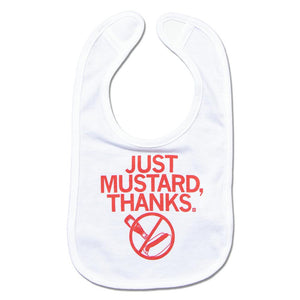 Chicago Hot Dog Just Mustard Baby Bib