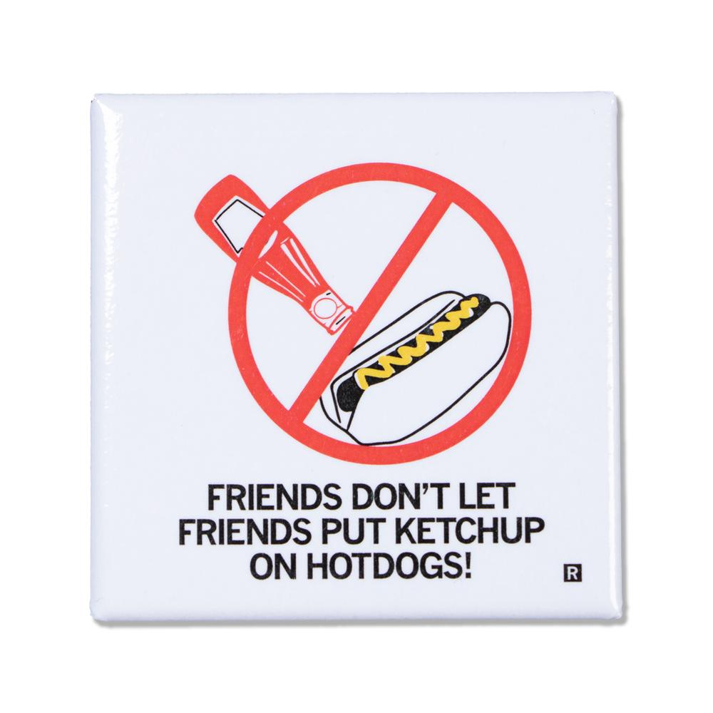 Ketchup on Hot Dogs Magnet