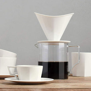 Faceted 4 Cup Porcelain Pour Over Brewer